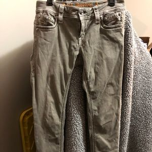 Grayish Stone Color Rock Revival Skinny Jeans 29W